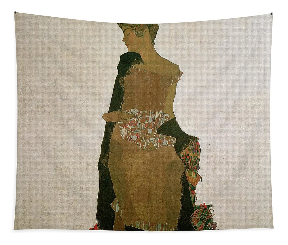 Gerti Schiele Tapestry featuring the painting Gerti Schiele by Egon Schiele