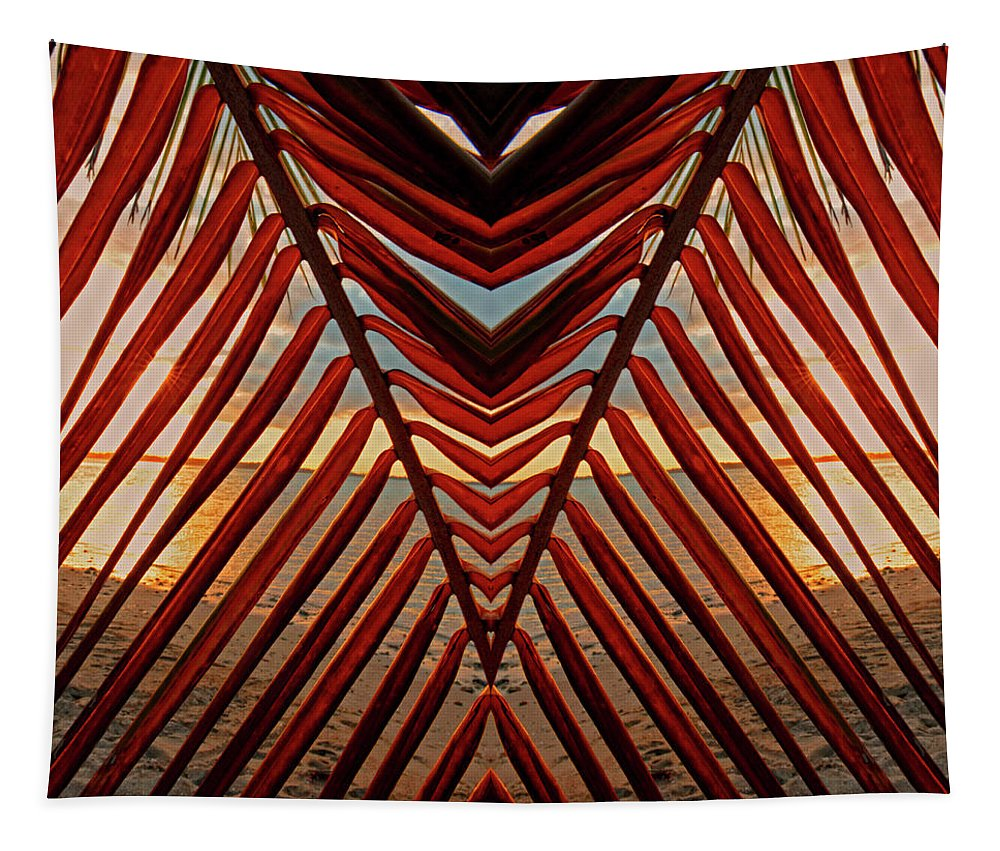 Beach Tapestry featuring the photograph Get To The Point by Stephen Anderson