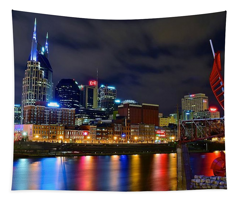 Nashville Tapestry featuring the photograph Ghost Ballet In Nashville by Frozen in Time Fine Art Photography