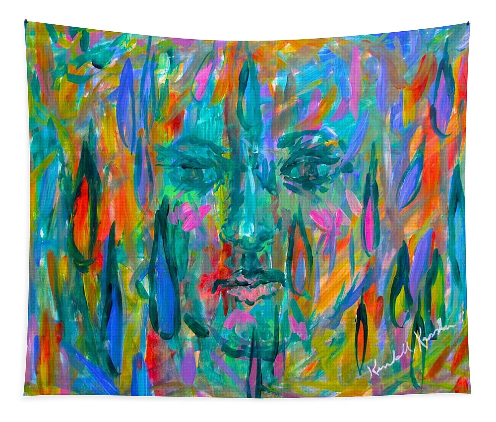Face Tapestry featuring the painting Ghost Tears by Kendall Kessler