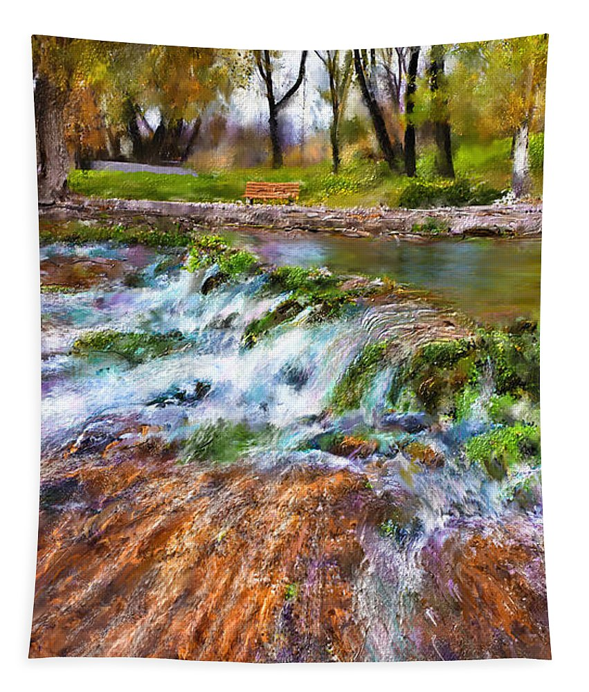 Giant Springs Tapestry featuring the digital art Giant Springs 2 by Susan Kinney