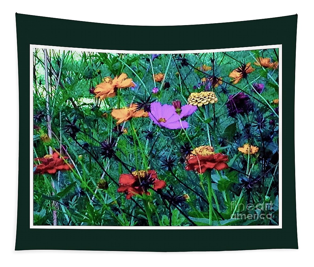 Nature Tapestry featuring the photograph Gift Of Flowers by Debra Lynch