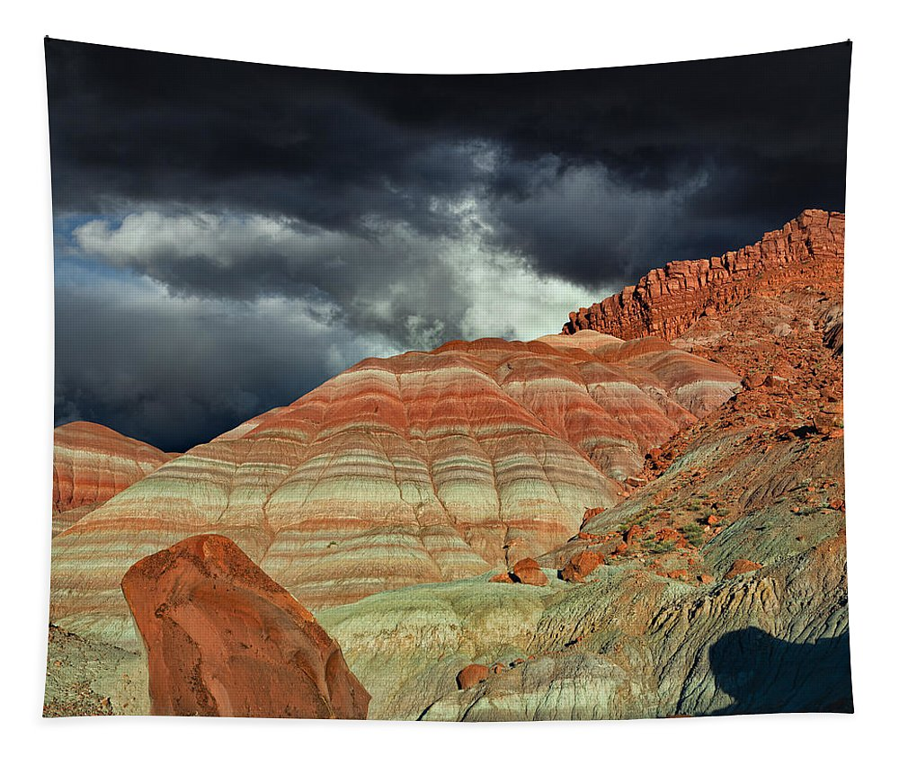 Paria Tapestry featuring the photograph Gingham Skirts Butte by Kathleen Bishop