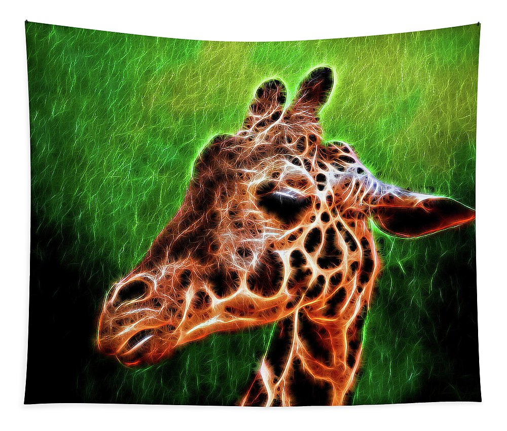 Giraffe Tapestry featuring the photograph Giraffe Fractal by Judy Vincent