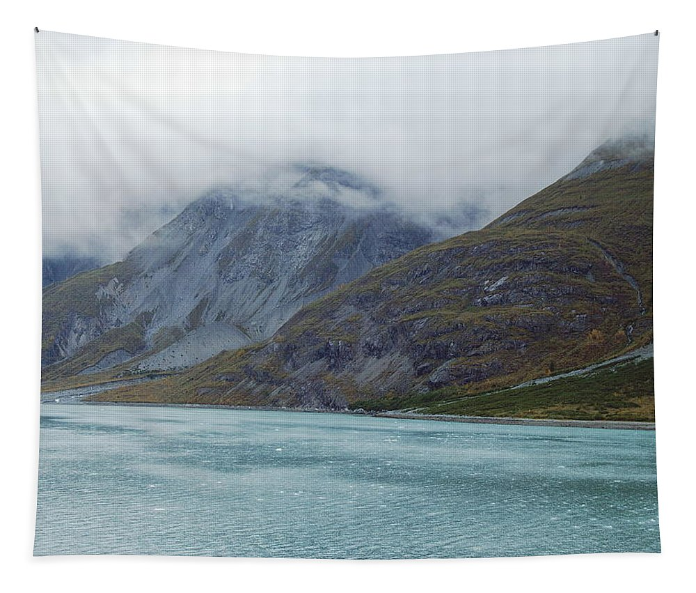 Glacier Tapestry featuring the photograph Glacier Bay Tarr Inlet by Michael Peychich