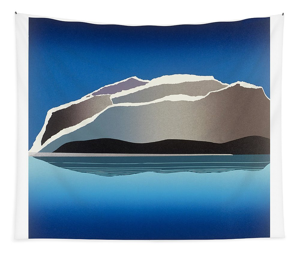 Landscape Tapestry featuring the mixed media Glaciers by Jarle Rosseland