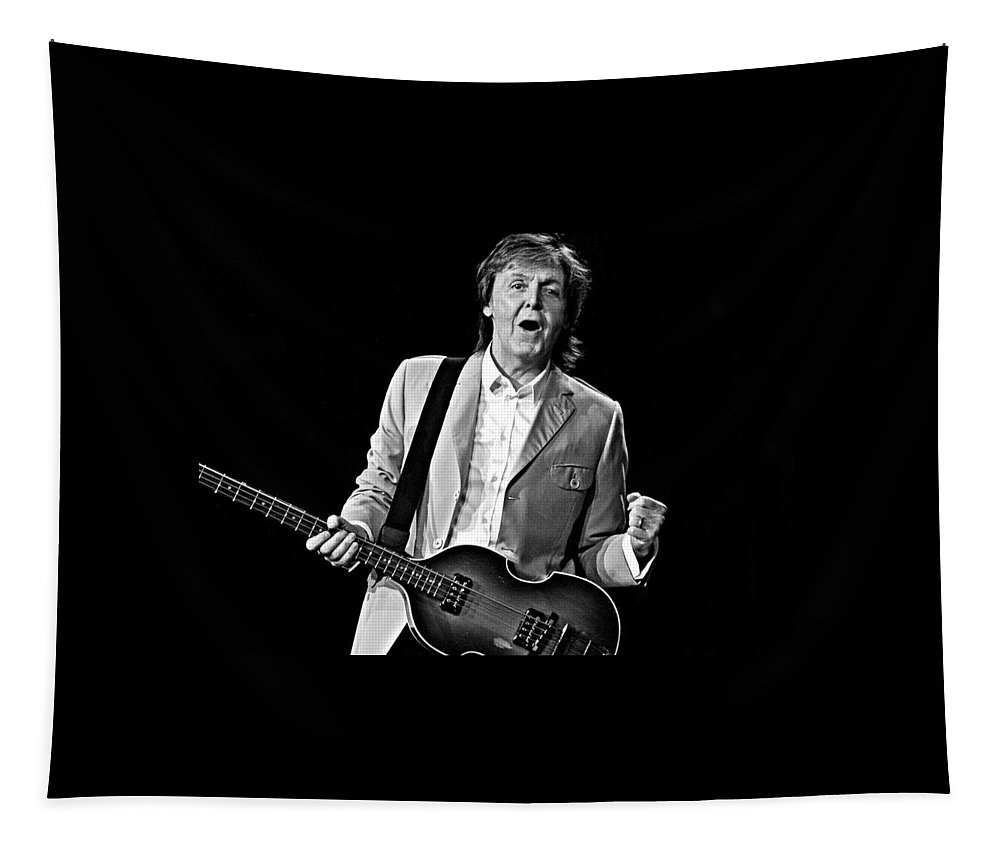 Paul Mccartney Tapestry featuring the photograph Glad To Be Here by Keri Butcher