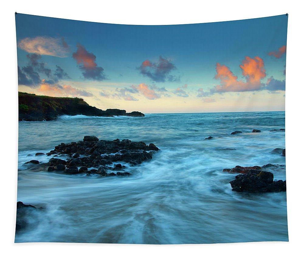 Glass Beach Tapestry featuring the photograph Glass Beach Dawn by Mike Dawson