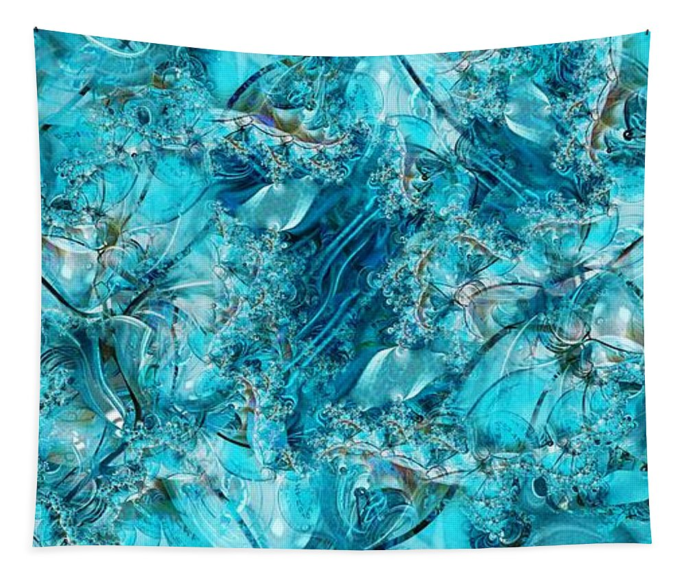 Collage Tapestry featuring the digital art Glass Sea by Ron Bissett
