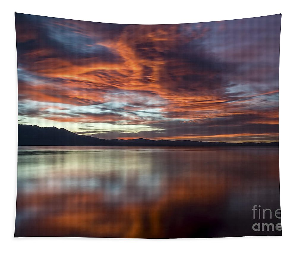 Tapestry featuring the photograph Glassy Tahoe by Mitch Shindelbower