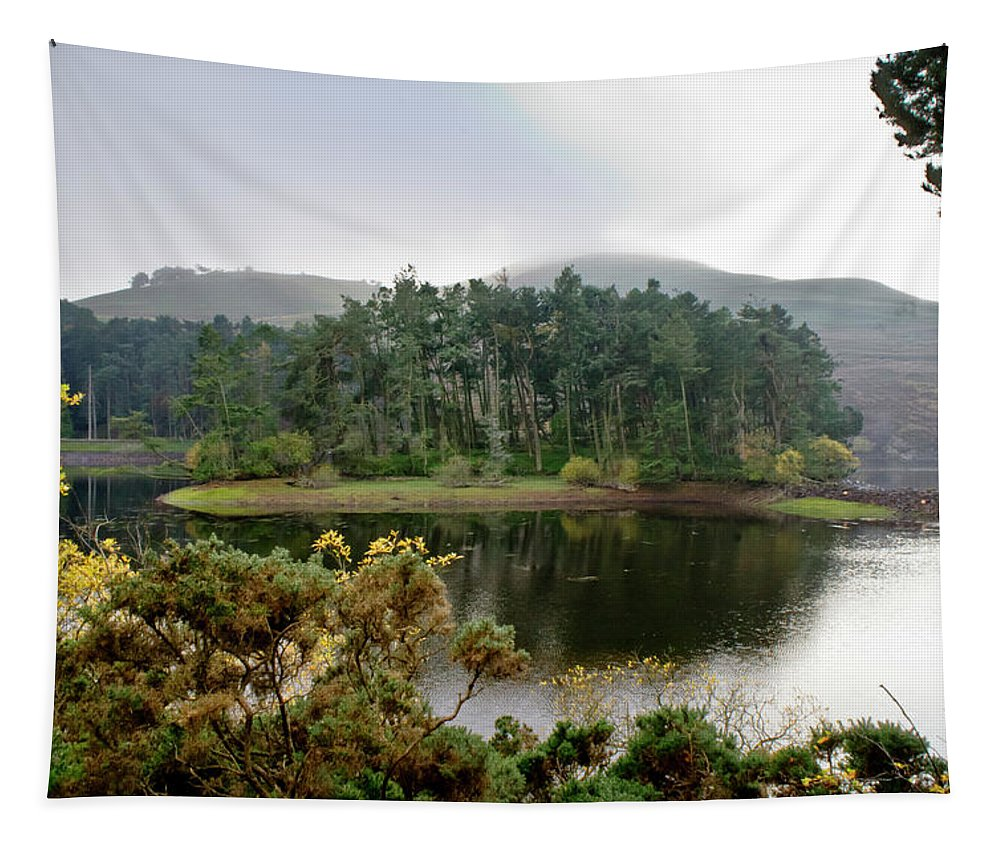 Glencorse Tapestry featuring the photograph Glencorse Island And Sadness. by Elena Perelman