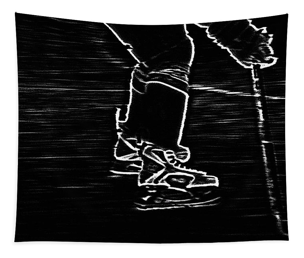Hockey Tapestry featuring the photograph Gliding by Karol Livote