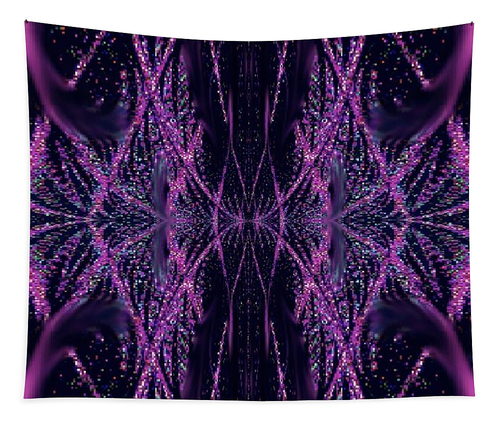 Purple Tapestry featuring the digital art Glitter Explosion by Charleen Treasures
