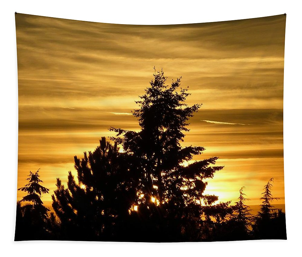 #gloriousguildfordsunset Tapestry featuring the photograph Glorious Guildford Sunset by Will Borden