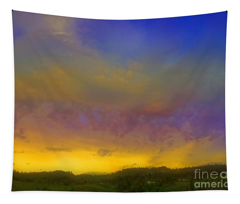 Sunset Tapestry featuring the photograph Glorious Skies by Tara Turner