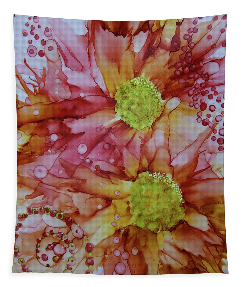 Bubble Tapestry featuring the painting Glory by Donna Coupe