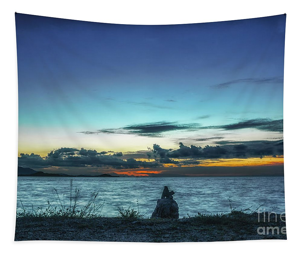 Michelle Meenawong Tapestry featuring the photograph Glowing Horizon by Michelle Meenawong