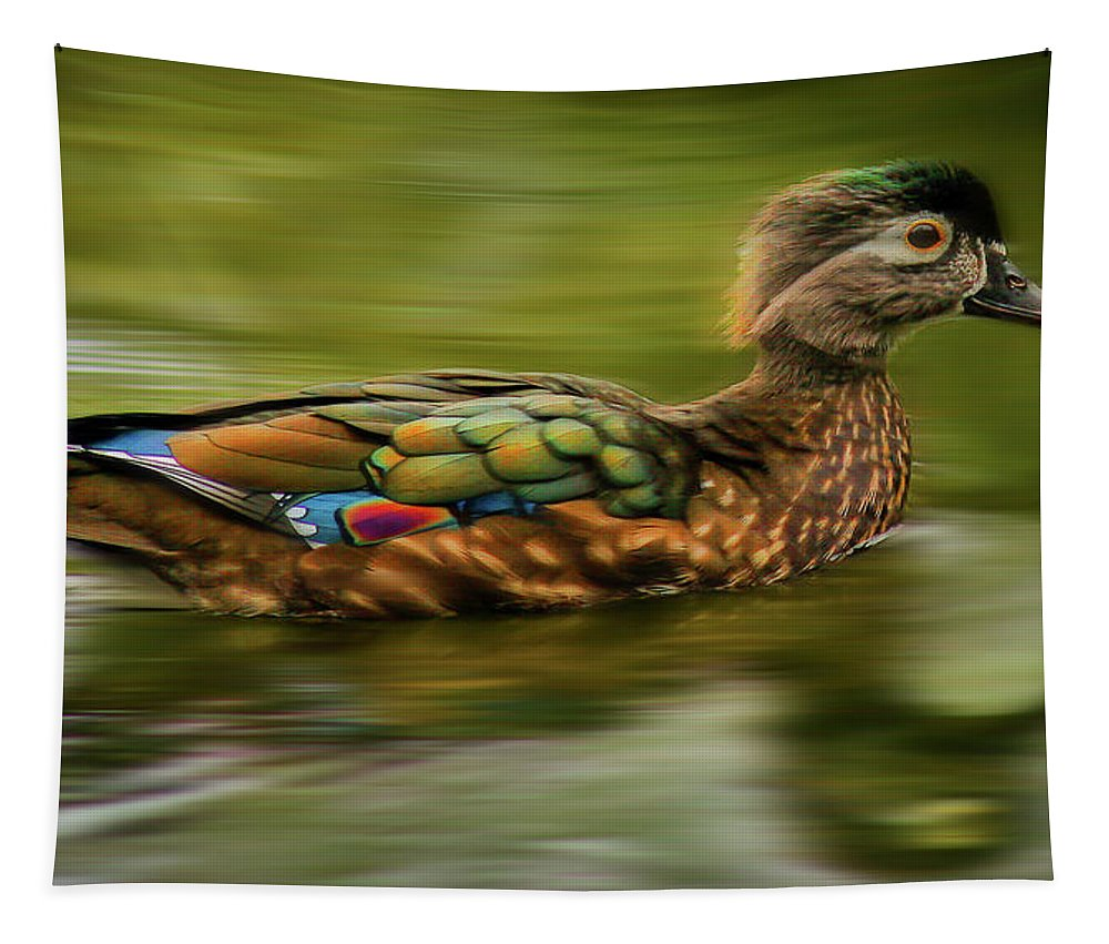 Jean Noren Tapestry featuring the photograph Go For It by Jean Noren