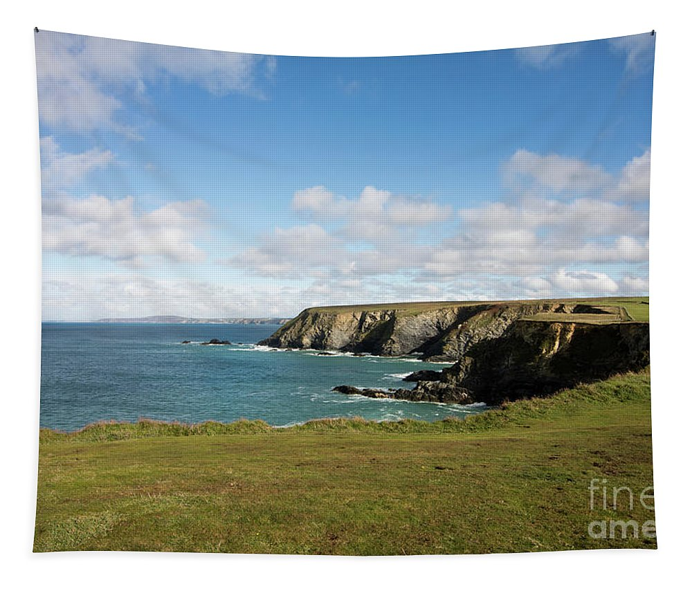 Godrevy Tapestry featuring the photograph Godrevy To St Agnes, The North Cornwall Coastline by Terri Waters