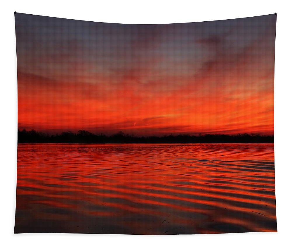 Sunrise Tapestry featuring the photograph God's Canvas by Judy Vincent