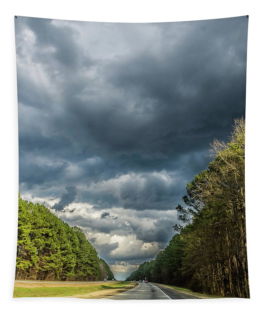 Landscape Tapestry featuring the photograph Going Home by Andrea Anderegg