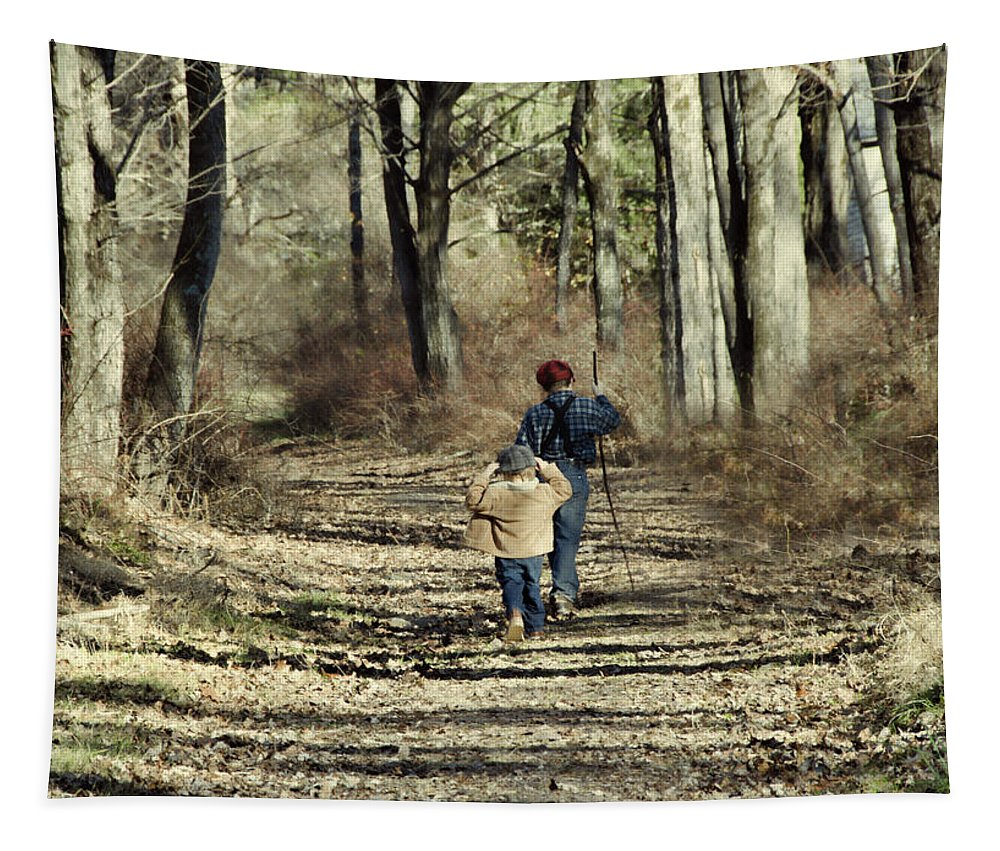 Country Tapestry featuring the photograph Going Home by Eleanor Bortnick