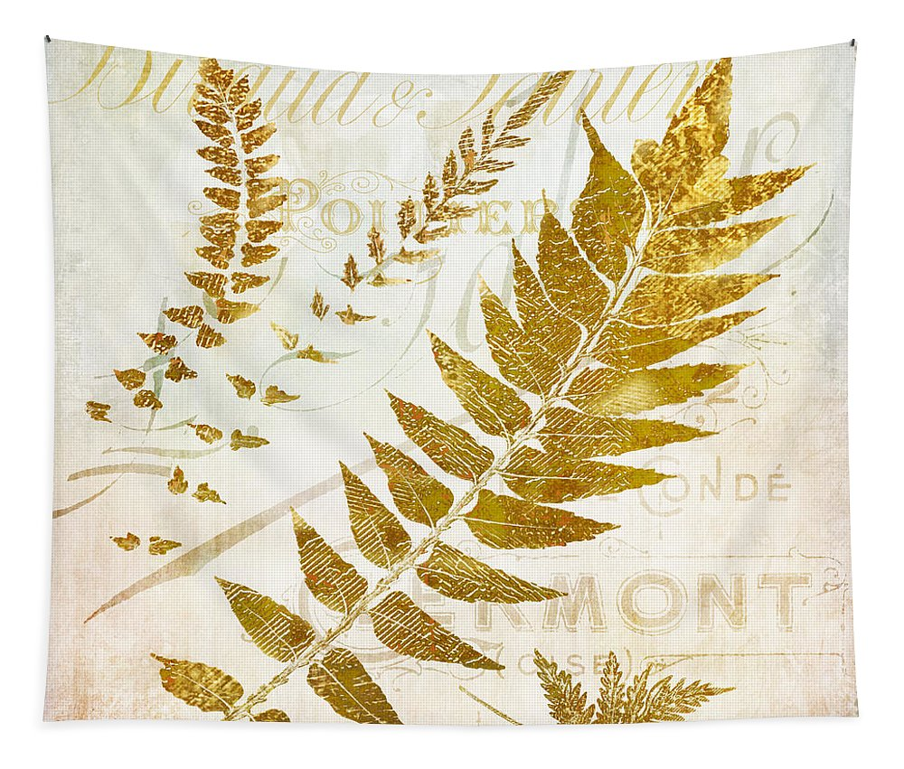Ferns Tapestry featuring the painting Golda I by Mindy Sommers