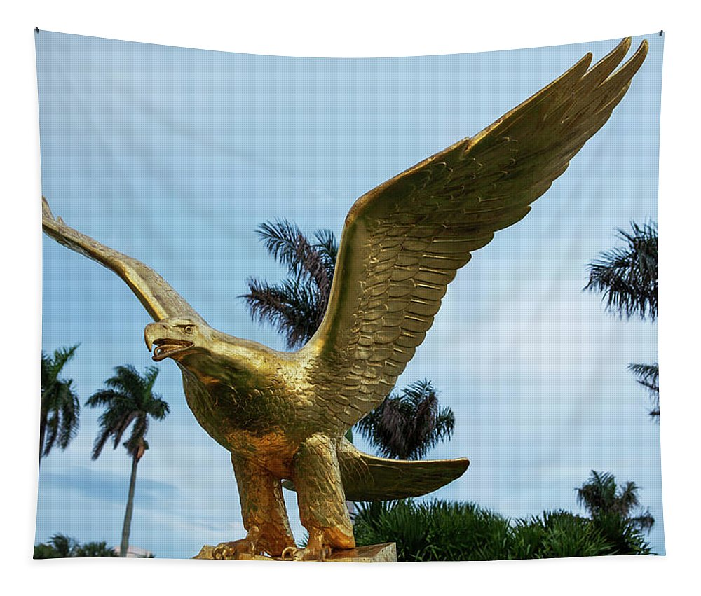 Golden Eagle Tapestry featuring the photograph Golden Eagle Take Off by Iris Richardson
