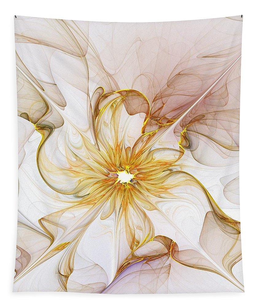 Digital Art Tapestry featuring the digital art Golden Glow by Amanda Moore