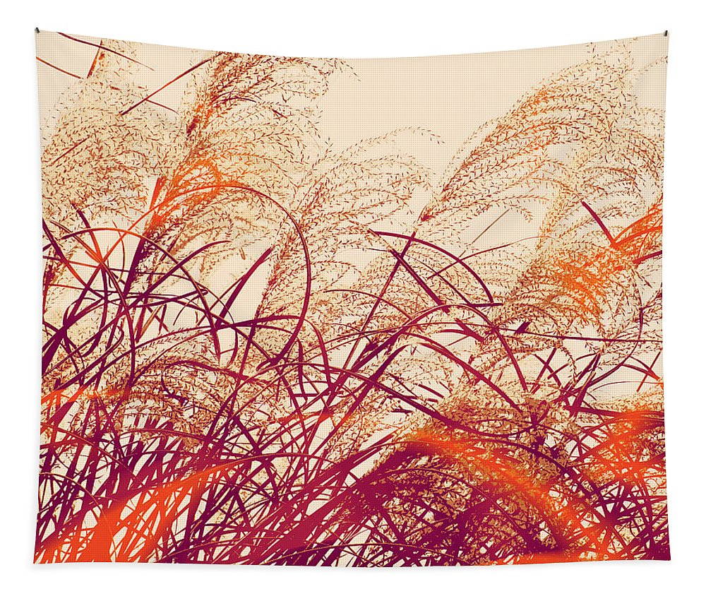 Abstract Pampas Tapestry featuring the photograph Abstract Pampas by Stacie Siemsen