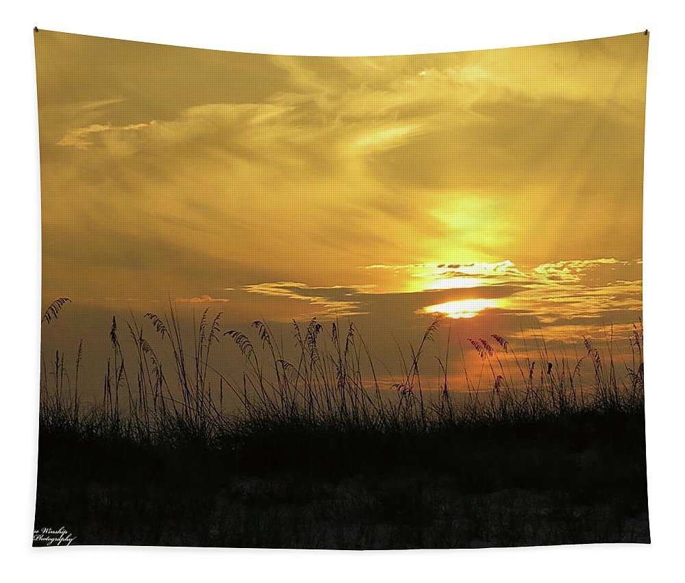 Sunrise Tapestry featuring the photograph Golden Sunrise by Denise Winship