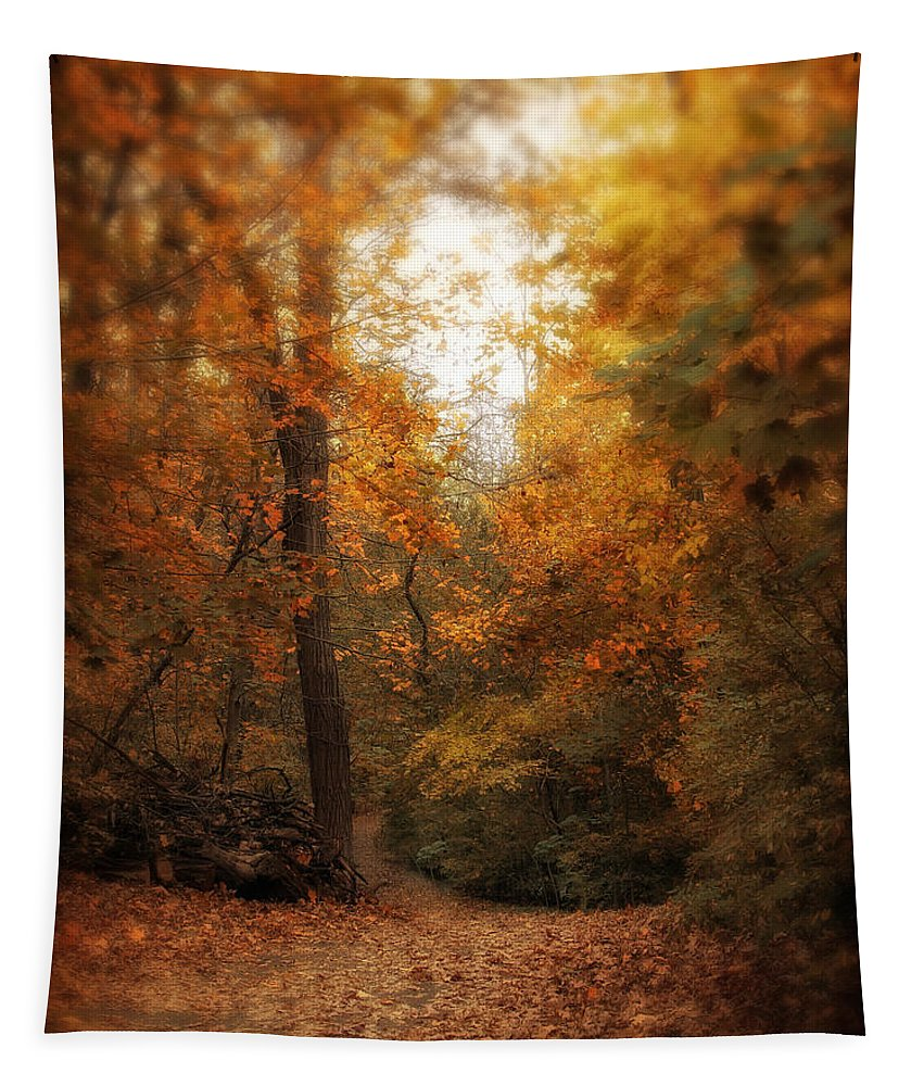 Nature Tapestry featuring the photograph Golden Trail by Jessica Jenney