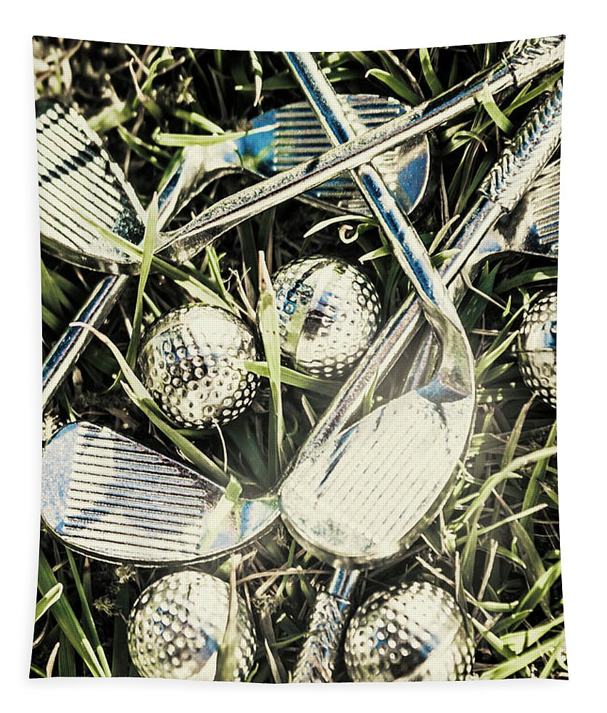 Golfclub Tapestry featuring the photograph Golf Chrome by Jorgo Photography - Wall Art Gallery