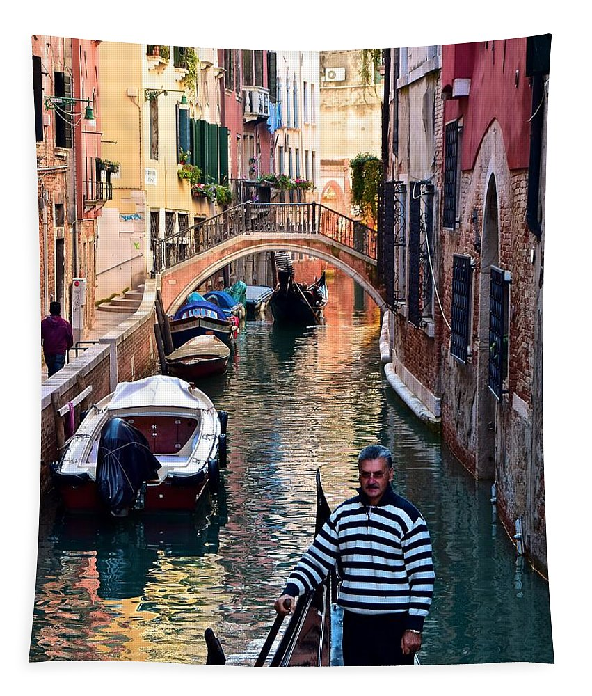 Gondola Ride Through Venice Tapestry For Sale By Frozen In Time Fine Art Photography