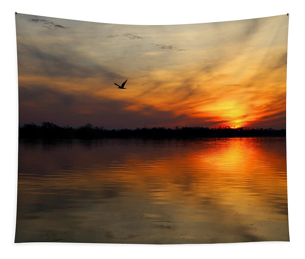Port Neches Tapestry featuring the photograph Good Morning by Judy Vincent