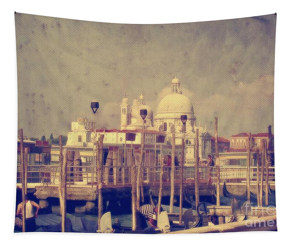 Venice Tapestry featuring the photograph Good Morning Venice by Lois Bryan