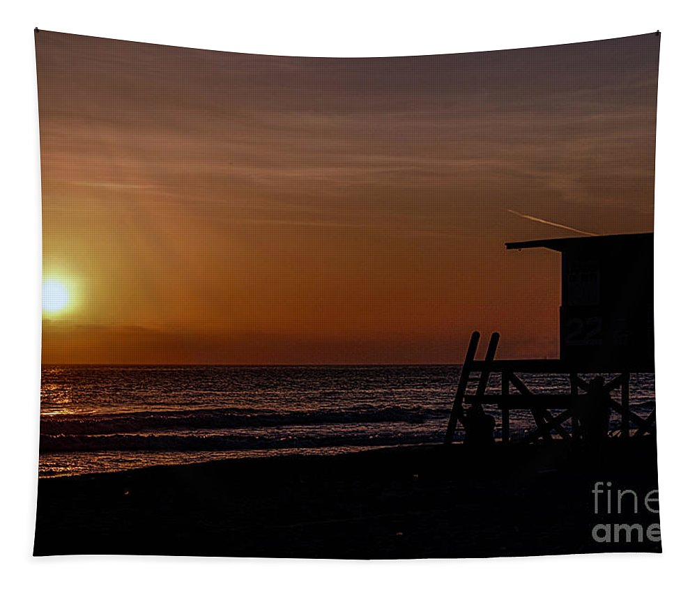 Newport Beach Tapestry featuring the photograph Good Night Newport Beach by Tommy Anderson