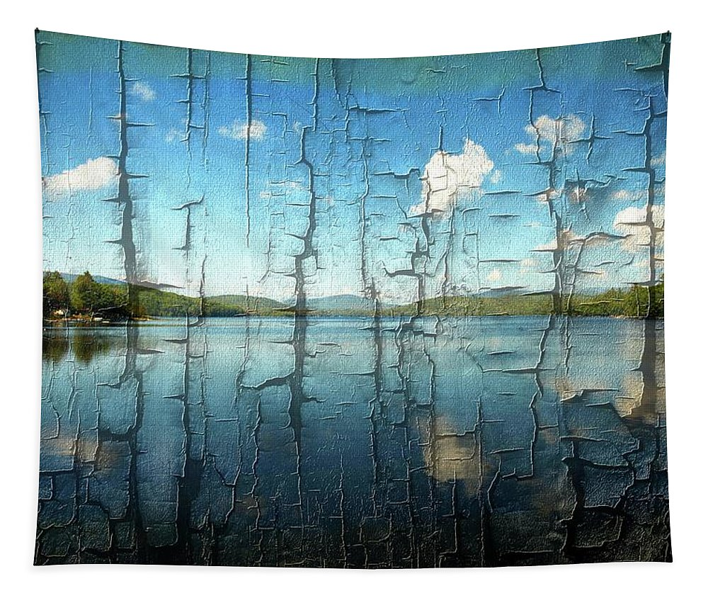 Goose Pond Tapestry featuring the photograph Goose Pond Reflection by Sherman Perry