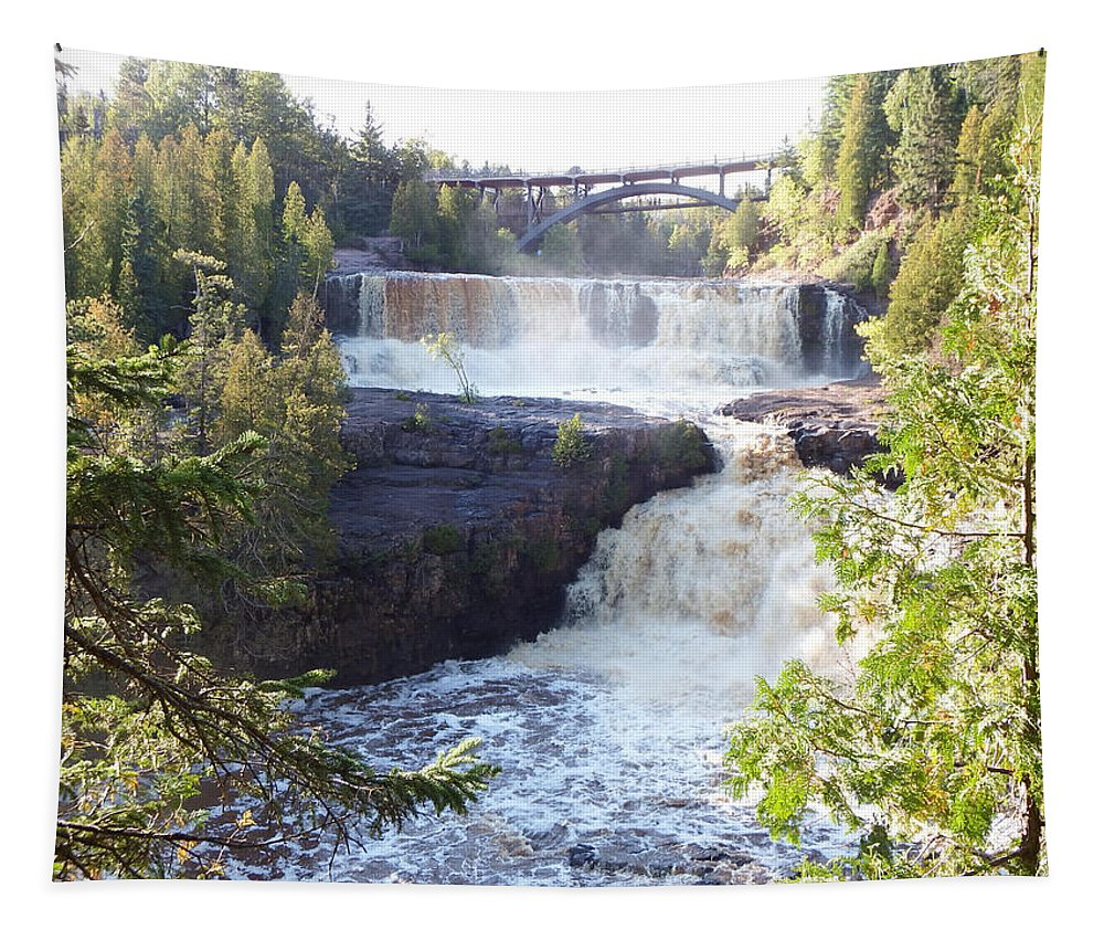 Waterfalls Tapestry featuring the photograph Gooseberry Falls by Alison Gimpel