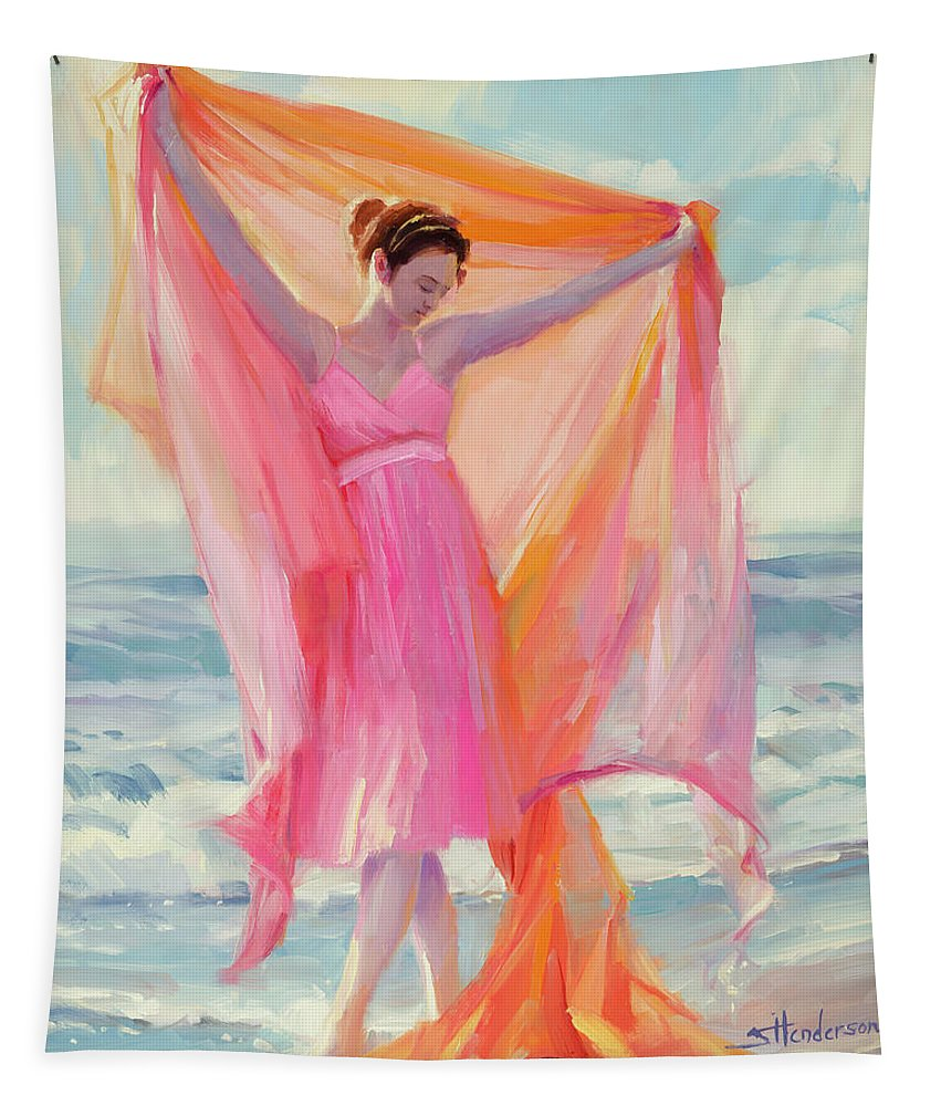 Beach Tapestry featuring the painting Grace by Steve Henderson