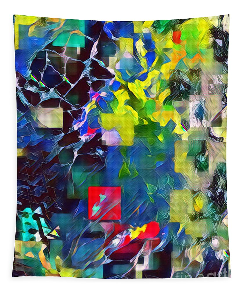 Bold Tapestry featuring the mixed media Graceful II by Jessica Eli