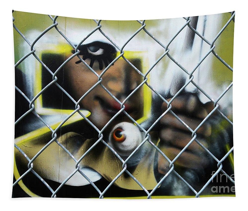 Graffiti Tapestry featuring the photograph Graffiti Art 1 by Bob Christopher
