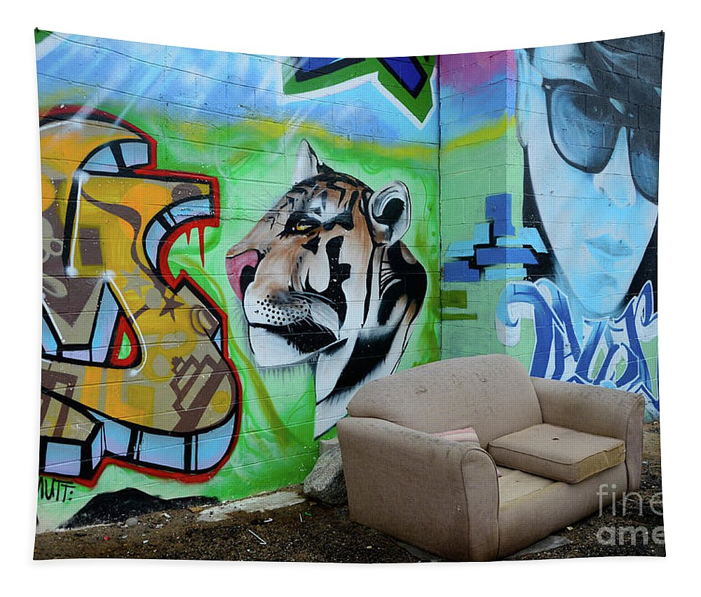 Graffiti Tapestry featuring the photograph Graffiti Art Albuquerque New Mexico 7 by Bob Christopher