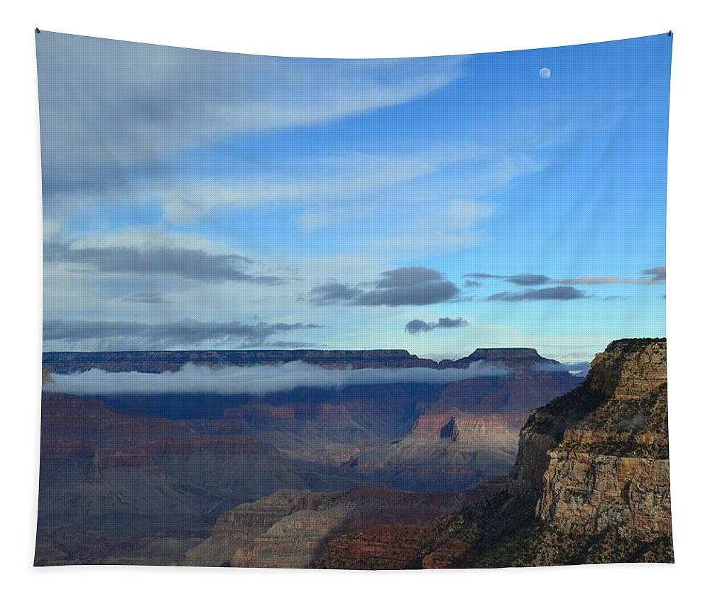 Grand Canyon Tapestry featuring the photograph Grand Canyon Moonrise by Colleen Phaedra