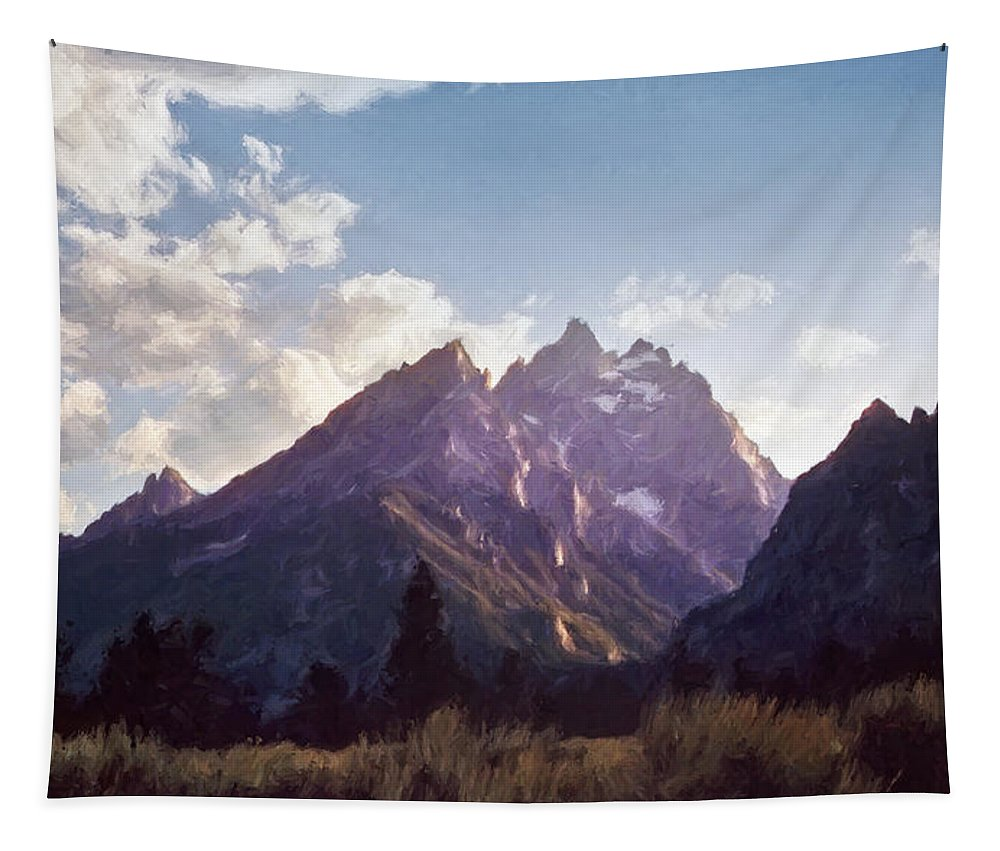 Grand Teton National Park Tapestry featuring the photograph Grand Teton by Scott Norris