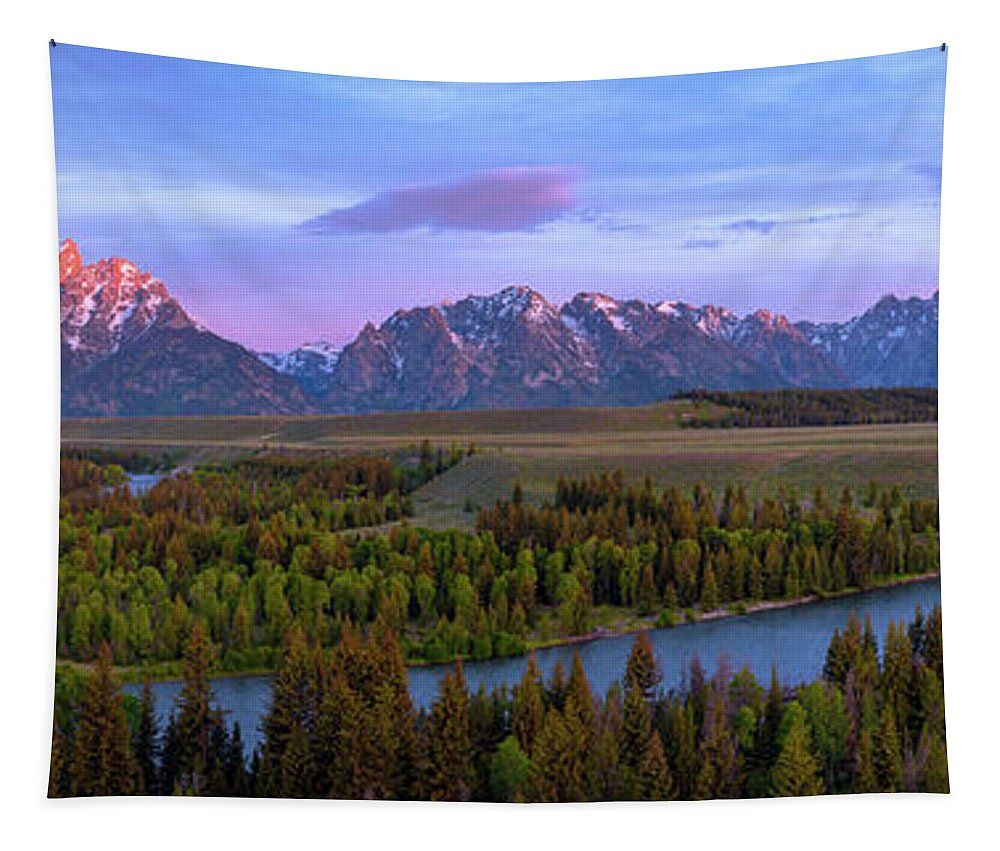 Grand Tetons Tapestry featuring the photograph Grand Tetons by Chad Dutson