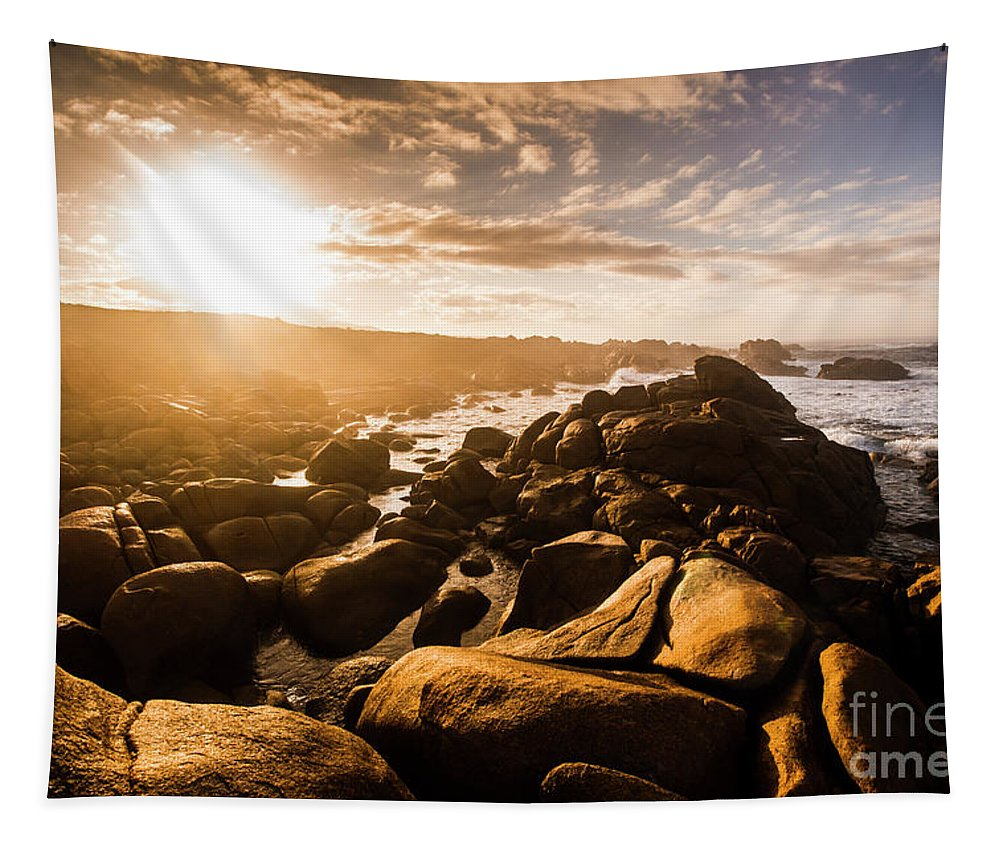 Tasmania Tapestry featuring the photograph Granville Harbour Tasmania Sunrise by Jorgo Photography - Wall Art Gallery