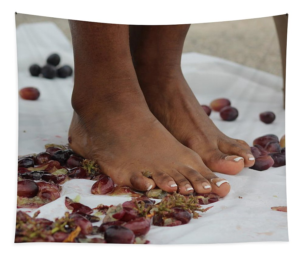 Barefoot Tapestry featuring the photograph Grape Juice 20 by Christopher White
