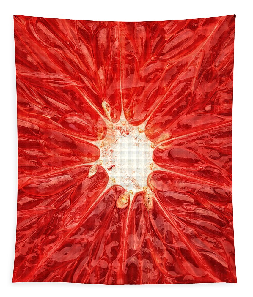 Grapefruit Tapestry featuring the photograph Grapefruit Close-up by Johan Swanepoel