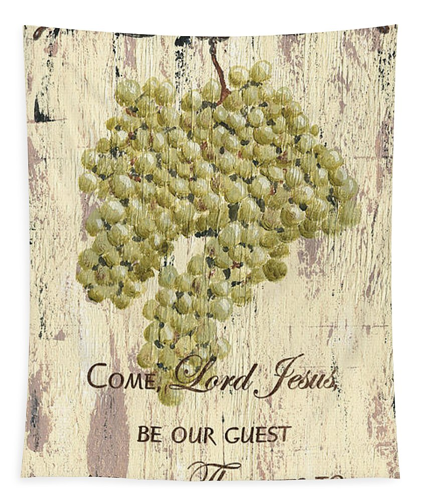 Grapes Tapestry featuring the painting Grapes and Grace 1 by Debbie DeWitt